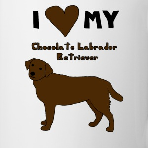 i heart my chocolate labrador retriever Drinkware - Coffee/Tea Mug
