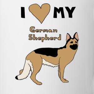 i heart my german shepherd Drinkware - Coffee/Tea Mug