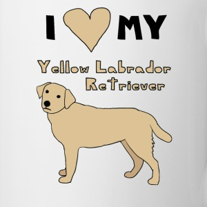 i heart my yellow labrador retriever Bottles & Mugs - Coffee/Tea Mug