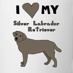 i heart my silver labrador retriever Drinkware - Coffee/Tea Mug
