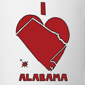 i heart alabama (red) Bottles & Mugs - Coffee/Tea Mug