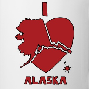 i heart alaska (red) Bottles & Mugs - Coffee/Tea Mug