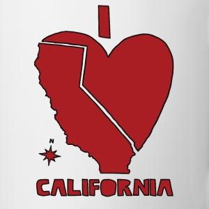 i heart California (red) Bottles & Mugs - Coffee/Tea Mug