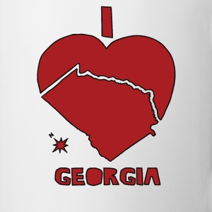 i heart Georgia (red) Bottles & Mugs - Coffee/Tea Mug