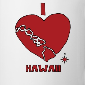 i heart Hawaii (red) Bottles & Mugs - Coffee/Tea Mug