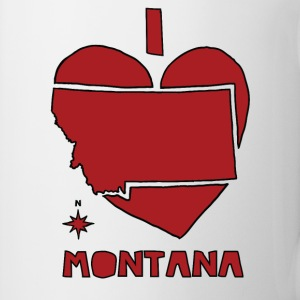 i heart Montana (red) Bottles & Mugs - Coffee/Tea Mug