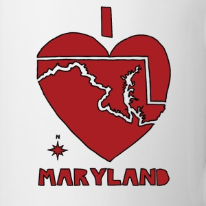 i heart Maryland (red) Bottles & Mugs - Coffee/Tea Mug