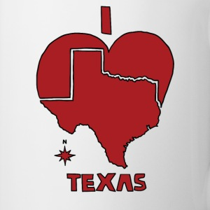 i heart Texas (red) Bottles & Mugs - Coffee/Tea Mug