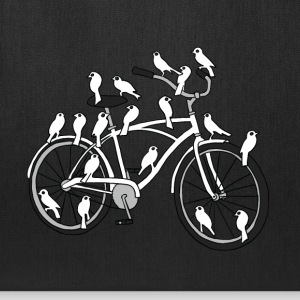 bird bike with white doves Bags & backpacks - Tote Bag