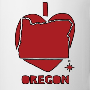 i heart Oregon (red) Bottles & Mugs - Coffee/Tea Mug