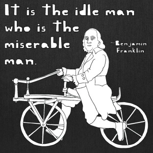 ben franklin cycling quote Bags & backpacks - Tote Bag