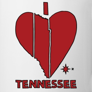 i heart Tennessee (red) Bottles & Mugs - Coffee/Tea Mug