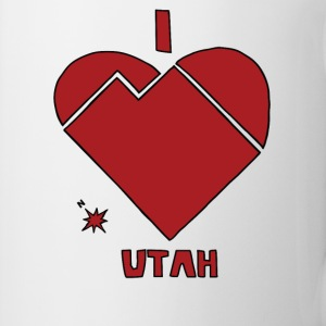 i heart Utah (red) Bottles & Mugs - Coffee/Tea Mug