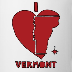 i heart Vermont (red) Bottles & Mugs - Coffee/Tea Mug