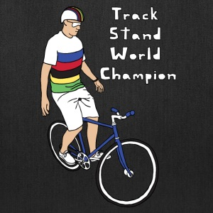track stand world champion Bags & backpacks - Tote Bag