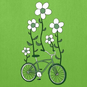 bike flowers shirt Bags & backpacks - Tote Bag