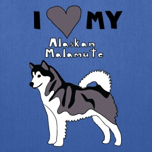 i heart my alaskan malamute Bags & backpacks - Tote Bag