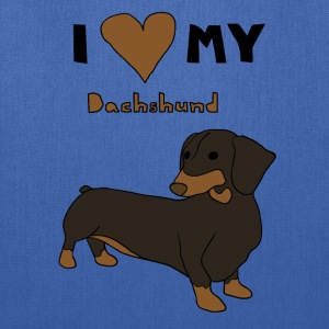 i heart my dachshund Bags & backpacks - Tote Bag