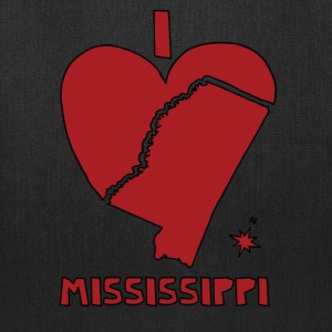 i heart Mississippi (red) Bags & backpacks - Tote Bag