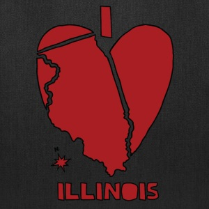i heart Illinois (red) Bags & backpacks - Tote Bag