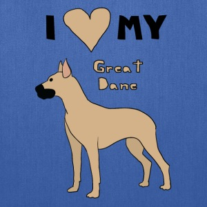 i heart my great dane Bags & backpacks - Tote Bag