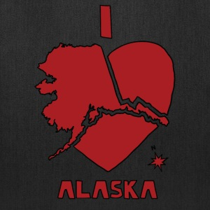 i heart alaska (red) Bags & backpacks - Tote Bag