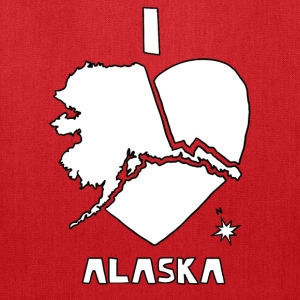 i heart alaska (white) Bags & backpacks - Tote Bag