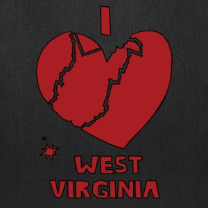 i heart West Virginia (red) Bags & backpacks - Tote Bag
