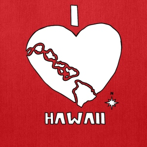i heart Hawaii (white) Bags & backpacks - Tote Bag