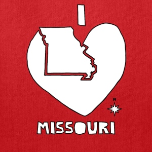 i heart Missouri (white) Bags & backpacks - Tote Bag