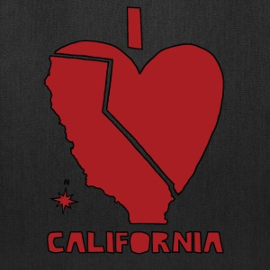 i heart California (red) Bags & backpacks - Tote Bag