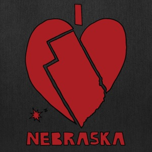 i heart Nebraska (red) Bags & backpacks - Tote Bag