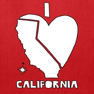 i heart California (white) Bags & backpacks - Tote Bag