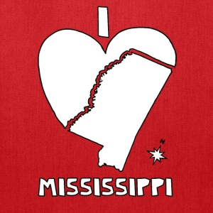 i heart Mississippi (white) Bags & backpacks - Tote Bag