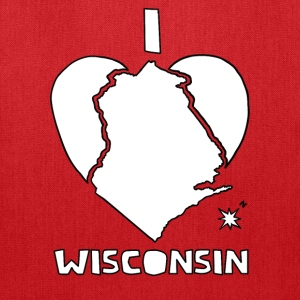 i heart Wisconsin (red) Bags & backpacks - Tote Bag