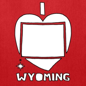 i heart Wyoming (red) Bags & backpacks - Tote Bag