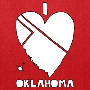 i heart Oklahoma (red) Bags & backpacks - Tote Bag