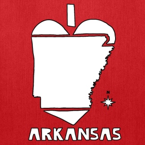 i heart Arkansas (white) Bags & backpacks - Tote Bag