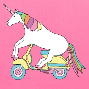 unicorn riding motor scooter Bags & backpacks - Tote Bag