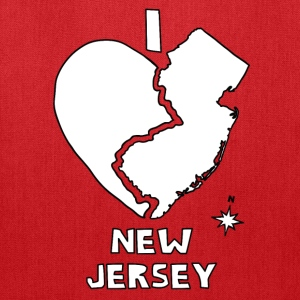 i heart New Jersey (red) Bags & backpacks - Tote Bag