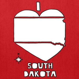 i heart South Dakota (red) Bags & backpacks - Tote Bag