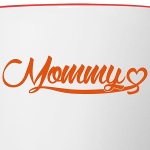 Mommy Heart Bottles & Mugs - Contrast Coffee Mug