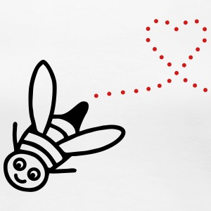 Flying Bee with heart - V2 Women's T-Shirts - Women's Premium T-Shirt