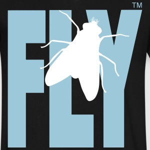 FLY T-Shirts - Men's V-Neck T-Shirt by Canvas