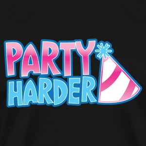 Party harder with a cute parties hat T-Shirts - Men's Premium T-Shirt