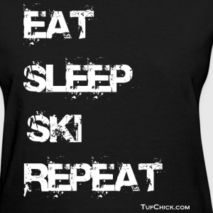 Eat Sleep Ski Repeat - TC - wb Women's T-Shirts - Women's T-Shirt