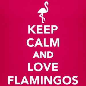 Keep calm and love Flamingos Kids' Shirts - Kids' Premium T-Shirt