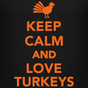 Keep calm and love Turkeys Kids' Shirts - Kids' Premium T-Shirt