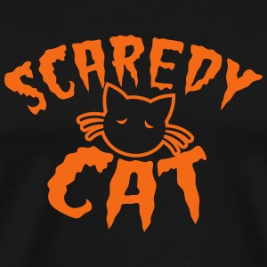 Cute kitty scaredy cat! for Halloween T-Shirts - Men's Premium T-Shirt