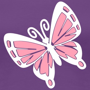 Simple bold two color butterfly Women's T-Shirts - Women's Premium T-Shirt